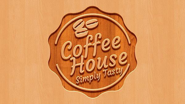 download free psd wood logo mockup