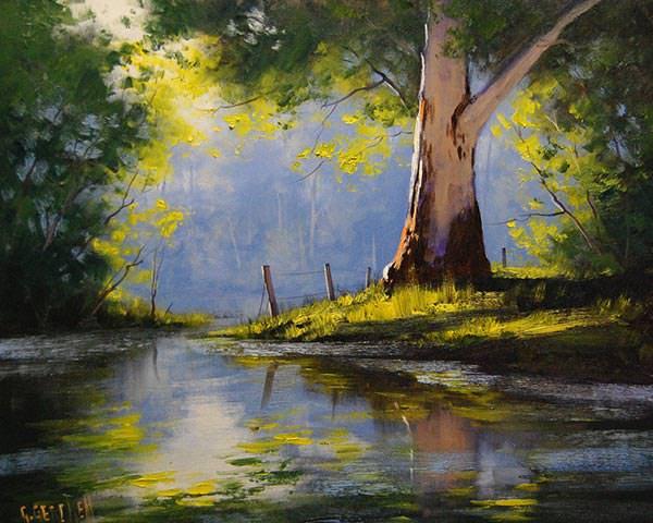 landscape tree painting
