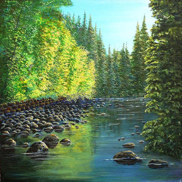 landscape river painting