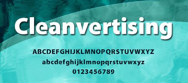 modern-Cleanvertising-font