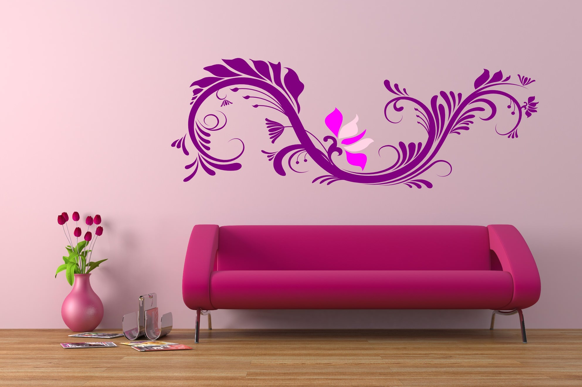 Interior Wall Painting Designs simple pink bedroom wall paint designs with glass windows Modern Stylish Interior Wall Painting Design