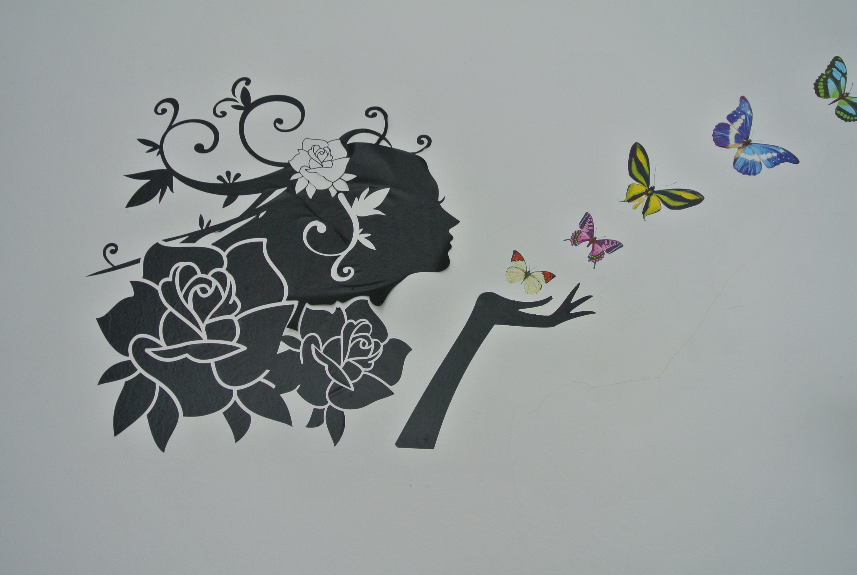 Butterfly Bedroom 15 Wall Paintings Psd Vector Eps Jpg Download