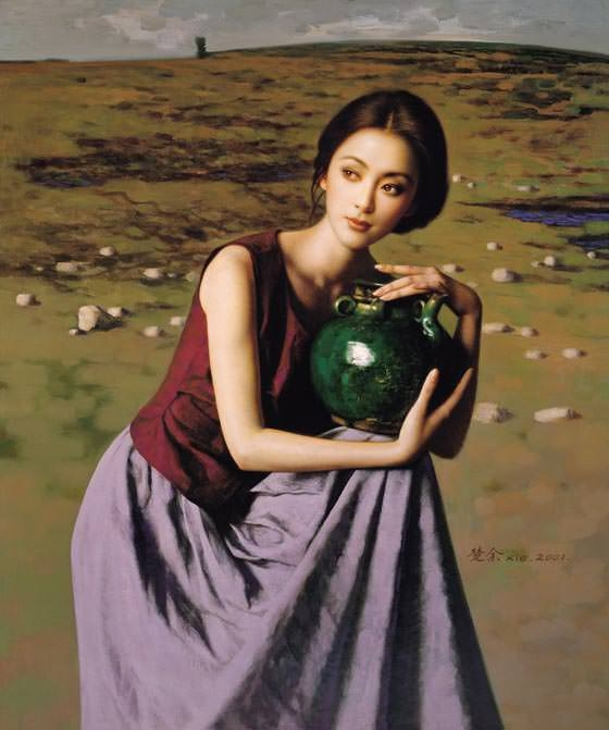 romantic-oil-paintings-of-beautiful-chinese-girls