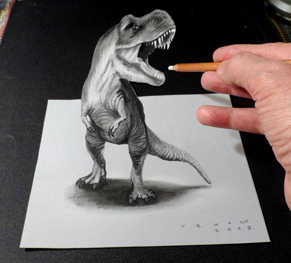 3d-drawing-dragon-art