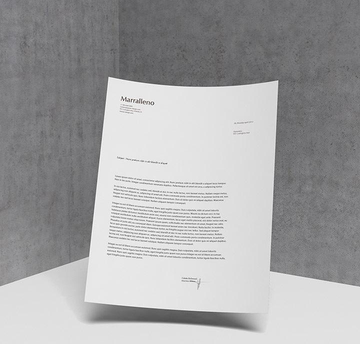 10 Free Psd Letterhead Mockups Freecreatives