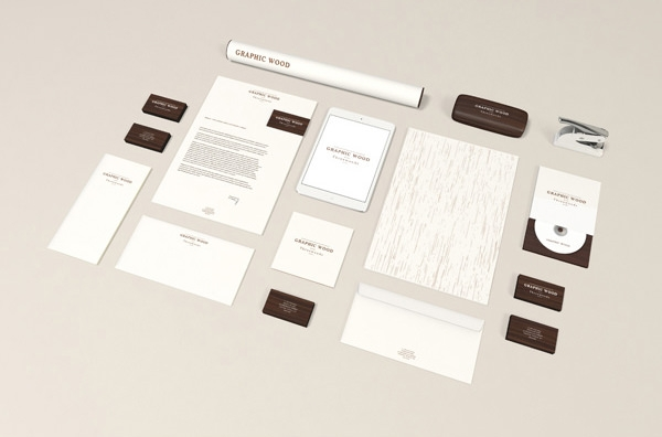 Branding-stationery-MockUp-Wood-Edition