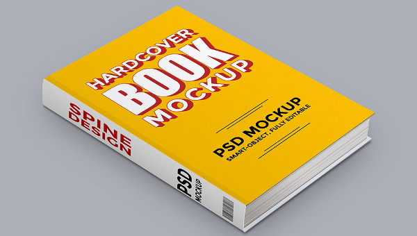 10 Free Psd Hardcover Book Mockups