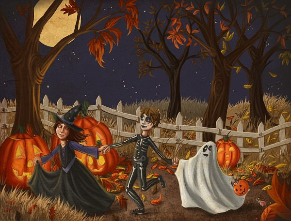 Halloween-painting-on-canvas