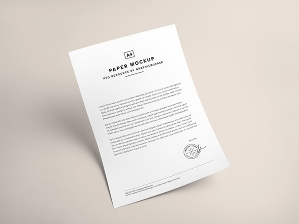 High-quality-A4-size-paper-mockup