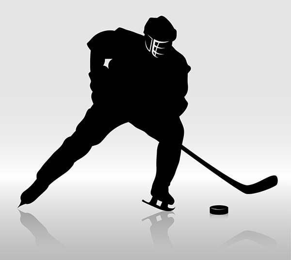 Hockey-player-silhouette