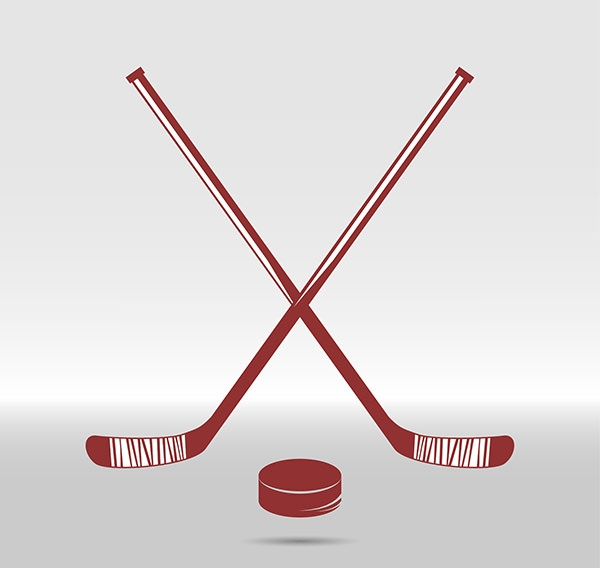 Hockey-sticks-and-puck