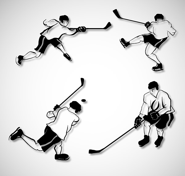 Hockey-vector-players-