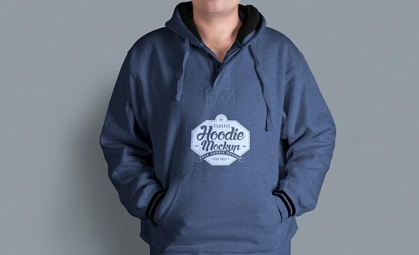 Men's Fabulous Free Hoodie Mockup