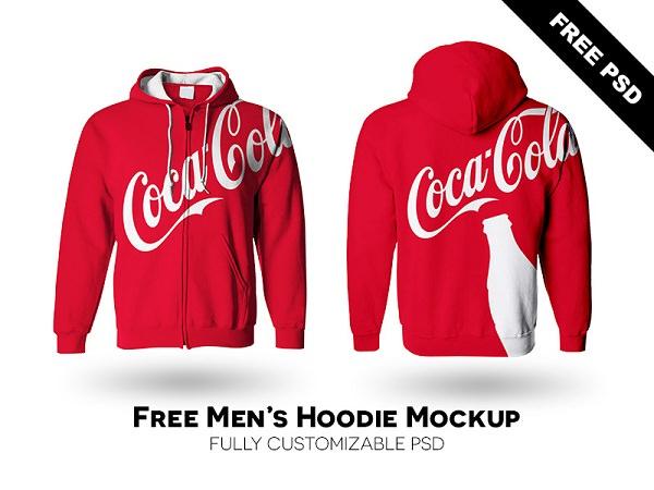 Men's Hoodie Mockup Free PSD