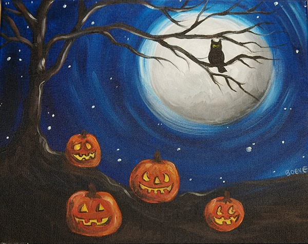 Spooky-Night-halloween-painting