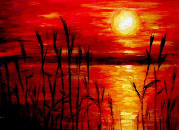 Sunset_acrylic_painting_