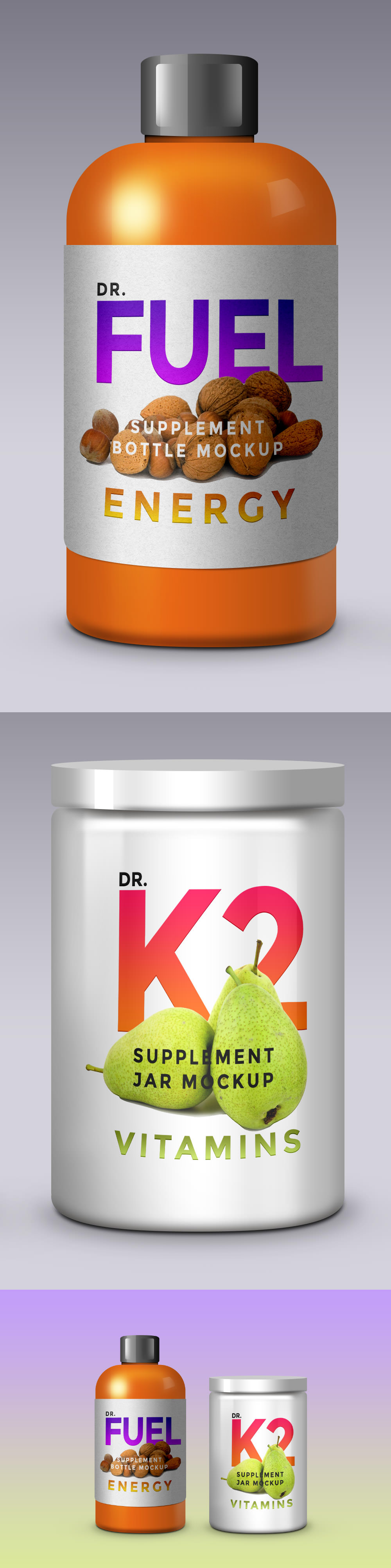 Supplement Product Packaging Mockup