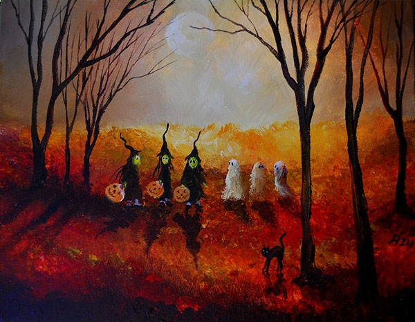 -Witches-and-ghosts-painting