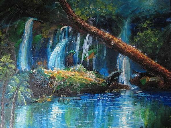 acrylic-water-fall-painting