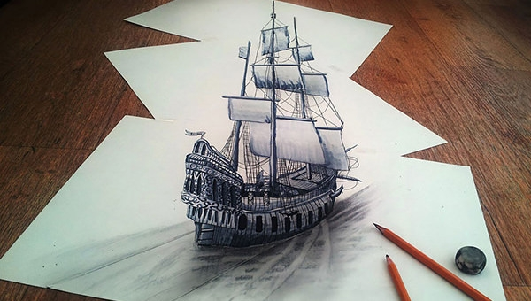 22 amazing collections of 3d pencil drawings