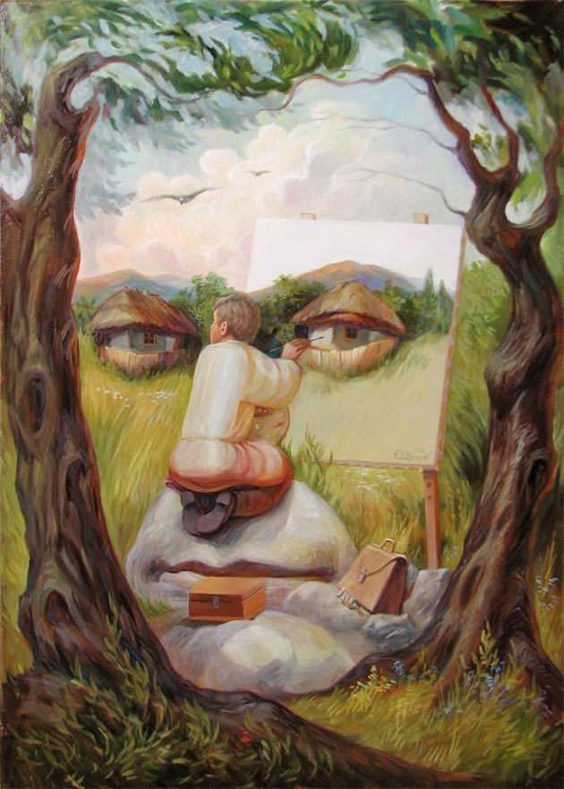 beautiful illusion painting rt