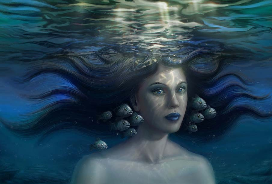 beautiful under water painting