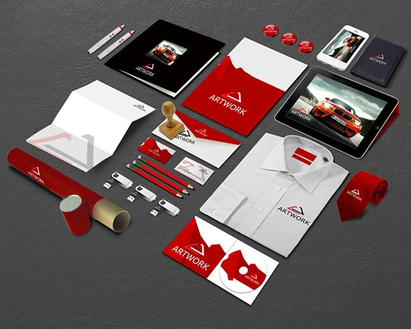 10  free vector psd corporate identity mockups