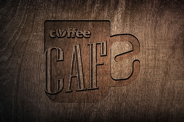crafted wooden logo design