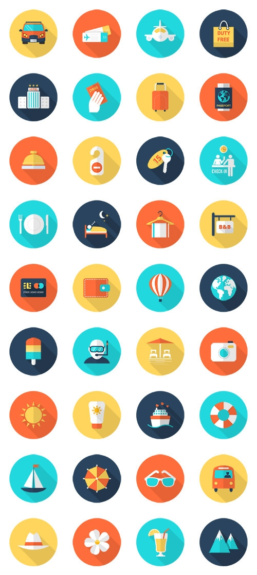 325  free vector travel and tourism icons pack
