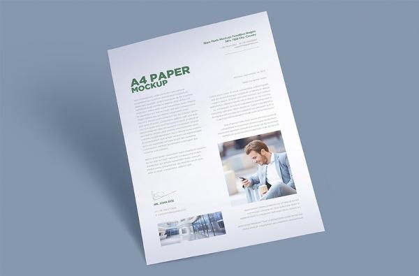 free-a4-paper-mockup