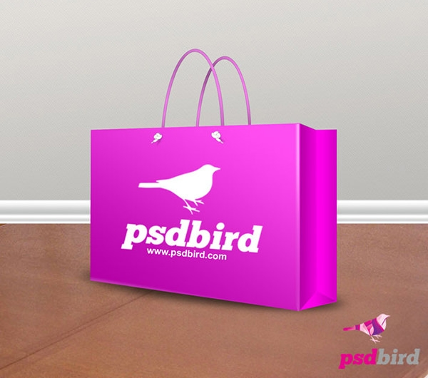 Paper Bag Template Psd