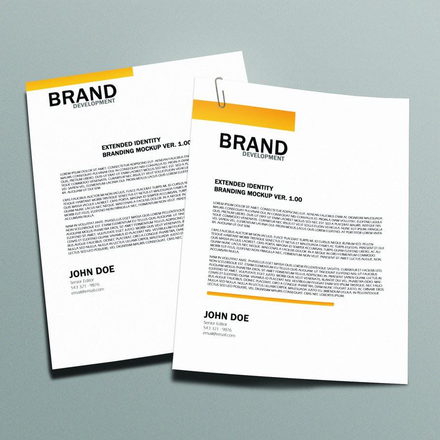 Free Printable Letterhead: 10+ Free PSD Letterhead Mockups