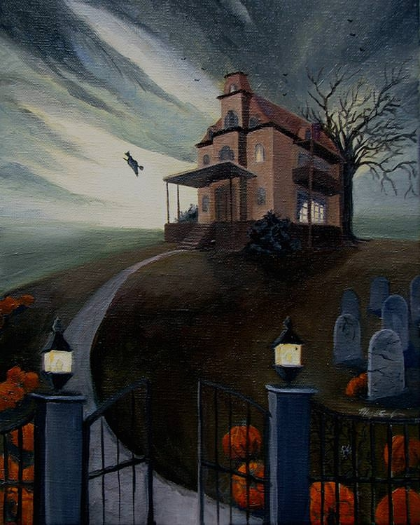 haunted-halloween-painting