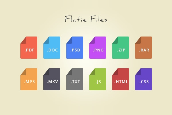 12-Flat-File-Type-Icons-PSD