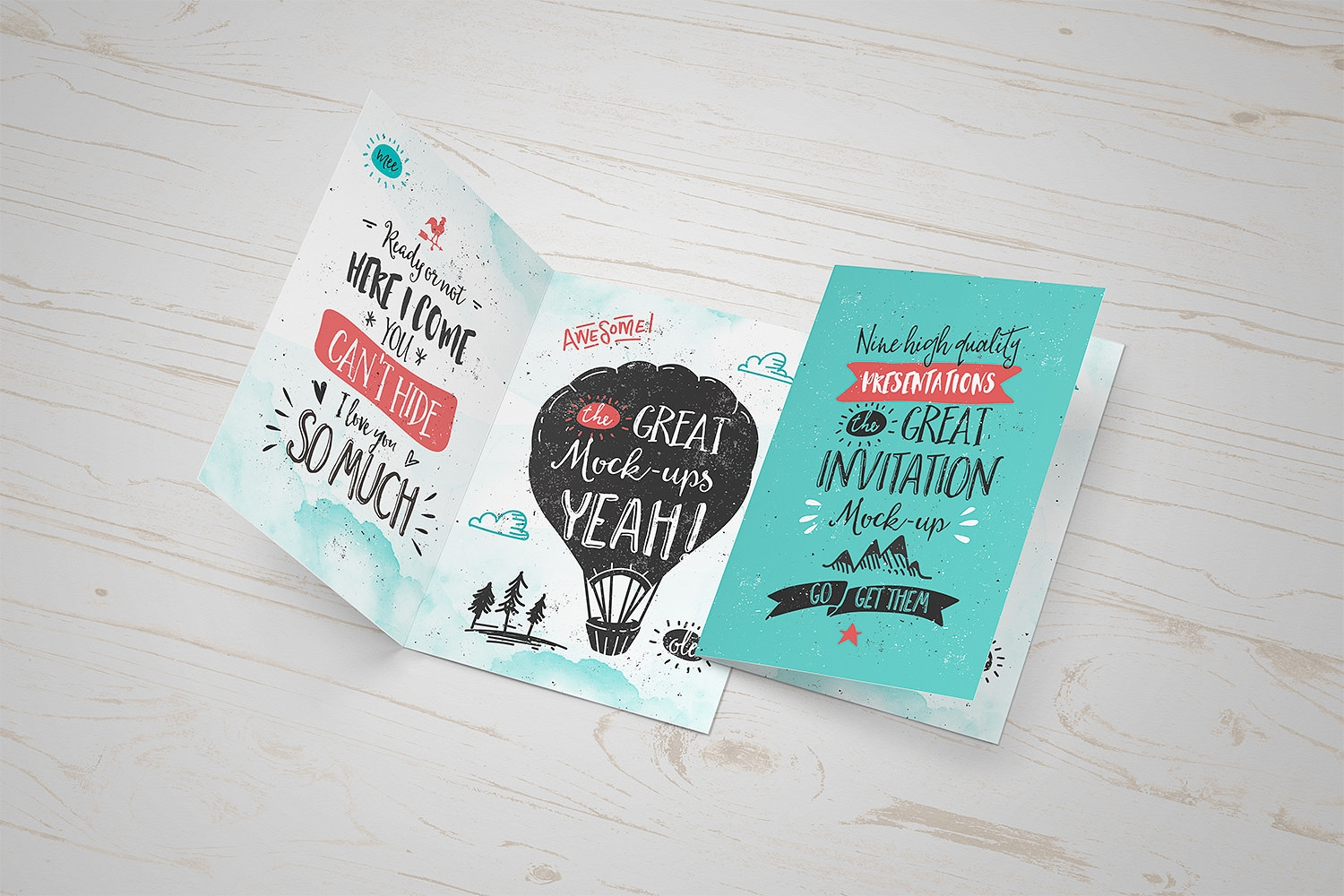 Free Invitation or Greeting Card Mockup PSD