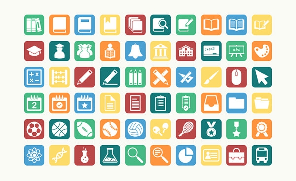 60-education-vector-icons