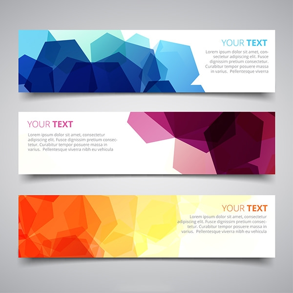 Banners-with-abstract-geometric