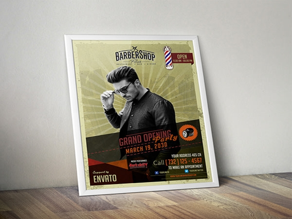 Barbershop-Retro-Flyer-Template