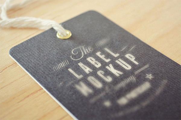 beautiful free psd tag label mockup