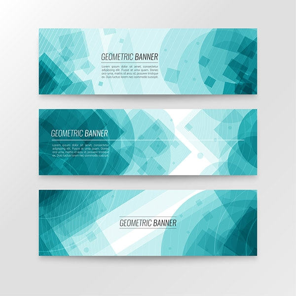 Blue-geometric-banner-collection