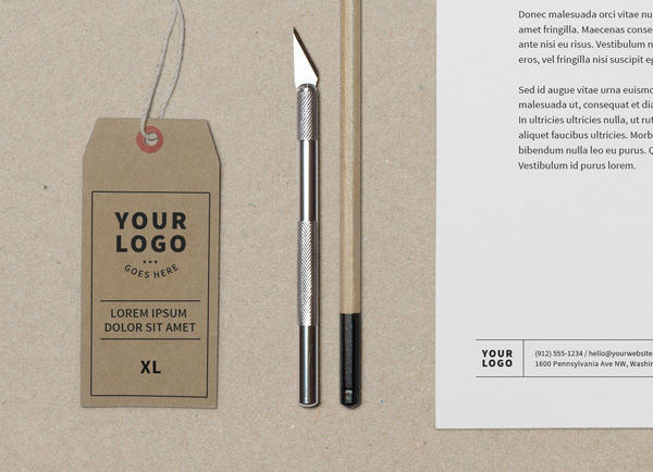 Brand Identity Label Mockup