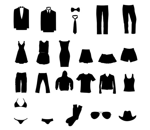 clothing-silhouette-vector