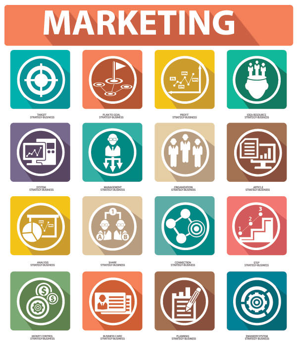 Different-marketing-icons-vector