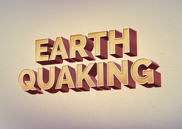 earth quaking retro style text effect1