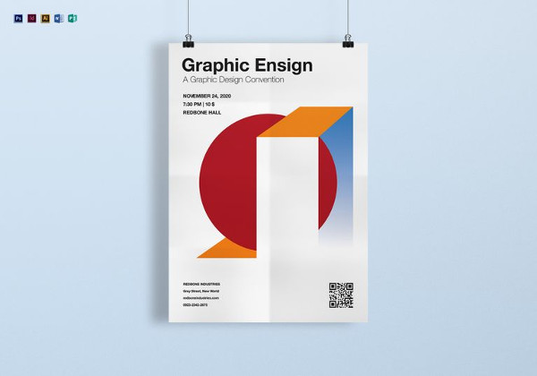 Editable A4 Graphic Ensign Poster Template