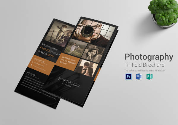 Editable Photography Brochure Tri fold