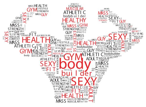 fitness text logo