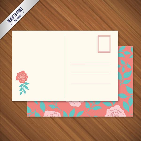 Free-PSD-Floral-Postcard-Mockup