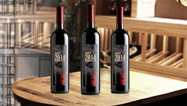 Free-psd-wine-bottlemockup