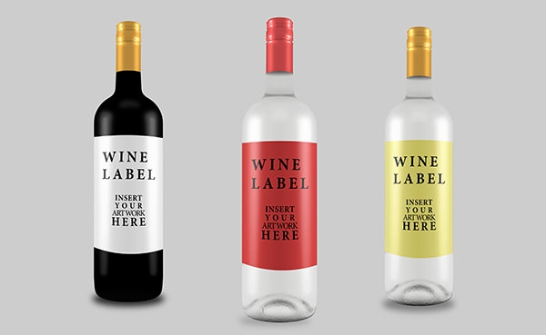 free wine bottle mockup for graphic designers1